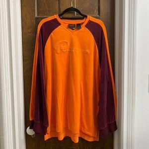 Puma Fenty Two-toned Velour Longline Sweatshirt